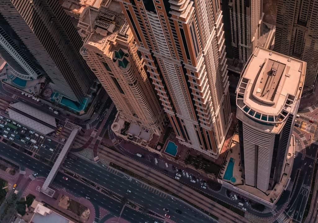 Aussicht Helikopter Dubai