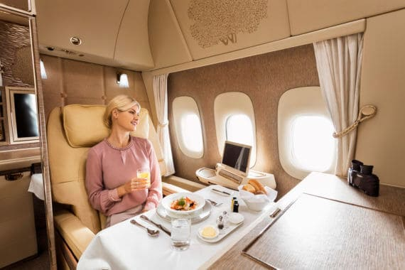 Neue Emirates First Class Suiten