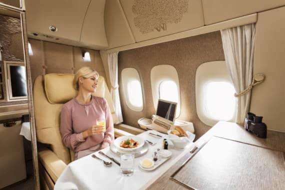 Neue Emirates First Class Suiten