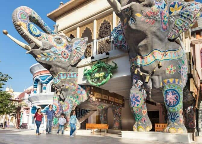 Eingang Bollywood Park Dubai