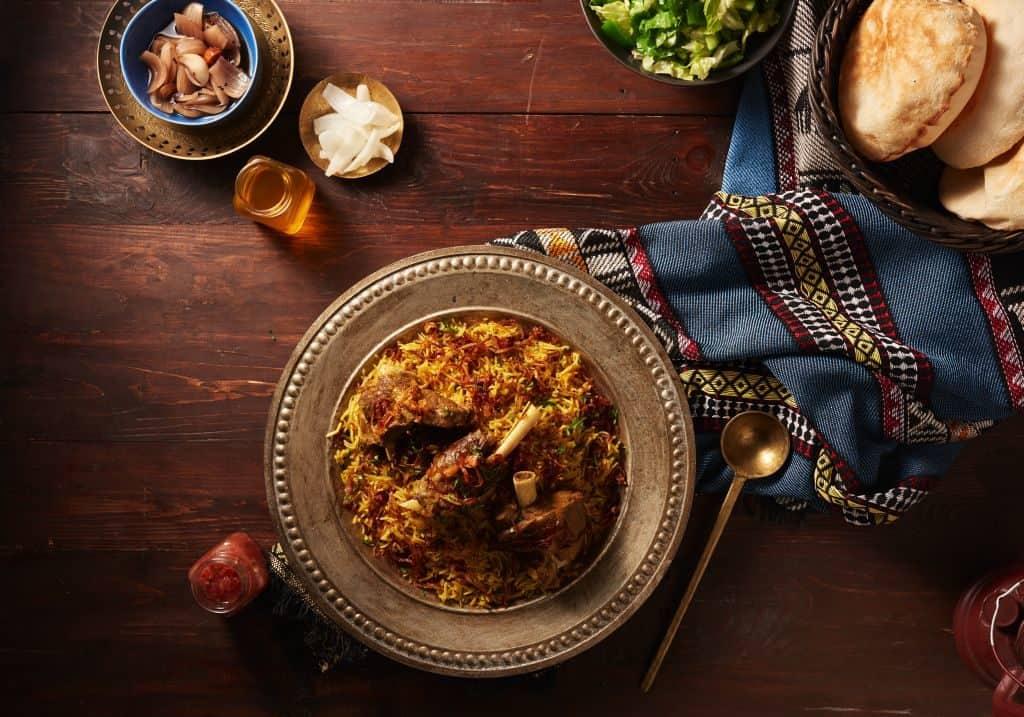 traditionelles arabisches Gericht Dubai Ouzi