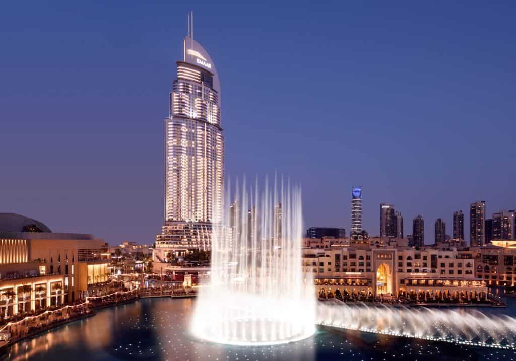 Dubai Fountain Auusicht Neos