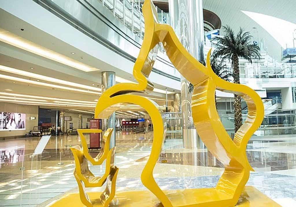 Kunst am Flughafen Dubai