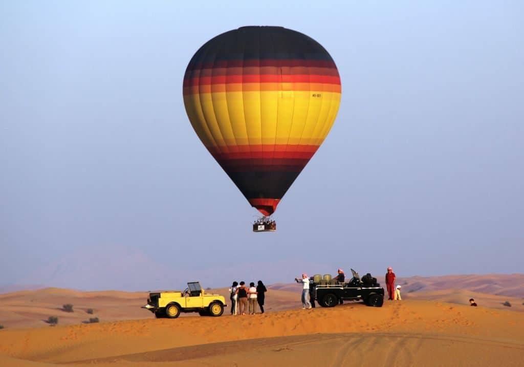Ausflug Wüste Heißluftballon