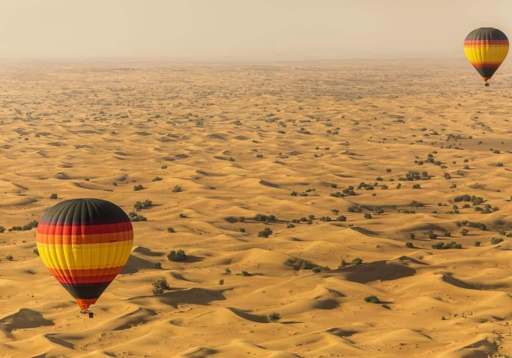 Wüstenausflug Ballonfahrt Dubai
