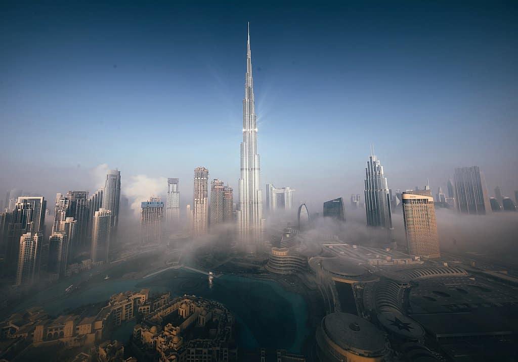 Burj Khalifa im Nebel