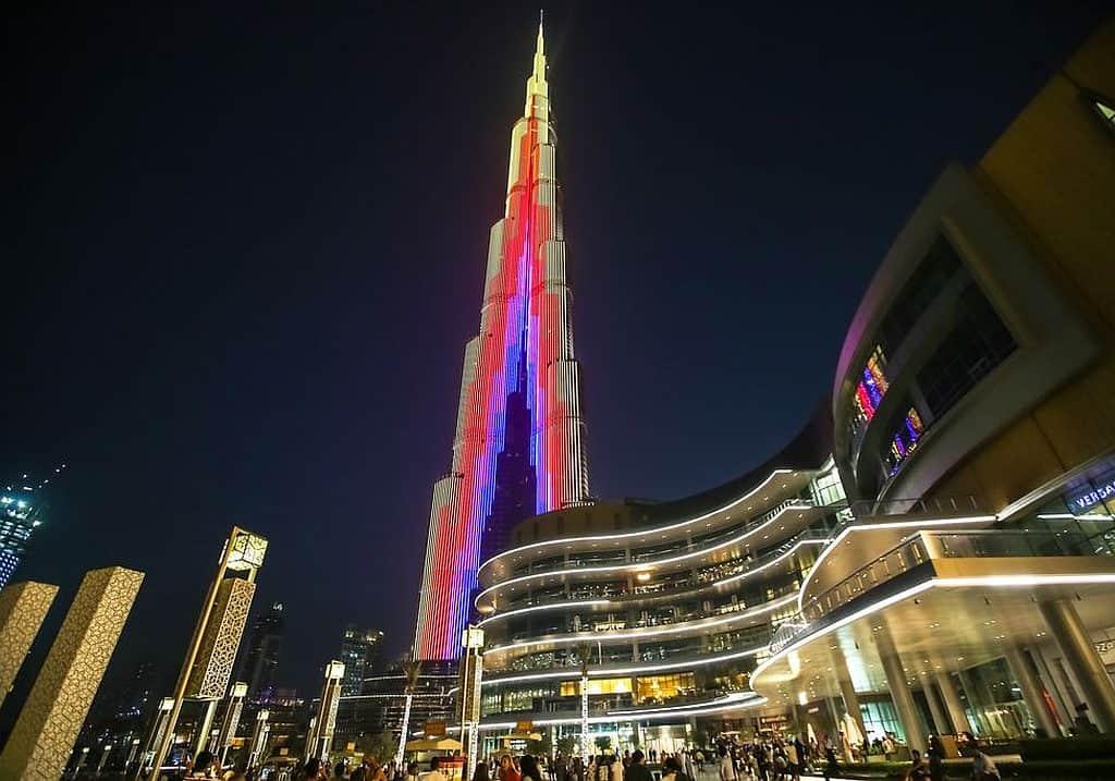Burj Khalifa LED-Lichtshow