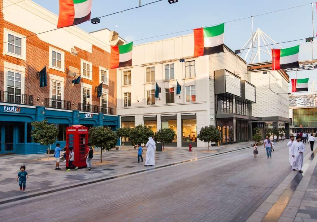 schoppen unter freiem Himmel Dubai