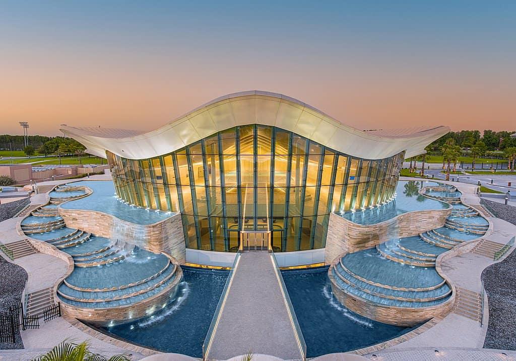 Außenfassade tiefster Pool der Welt