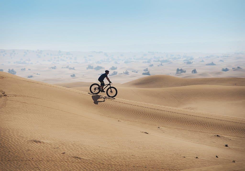 Fahrradfahren in der Wüste