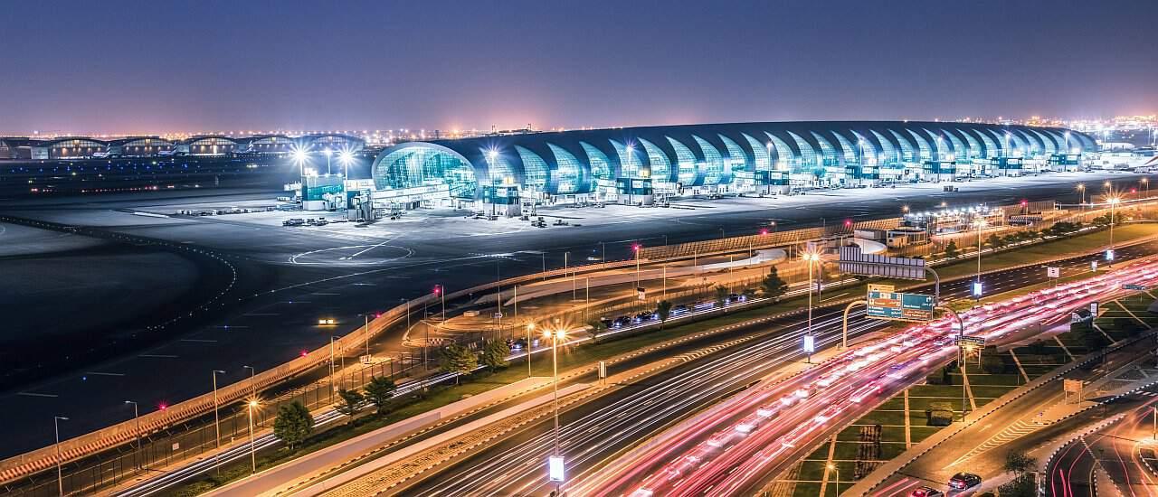 Sechs Orte Dubai Airport