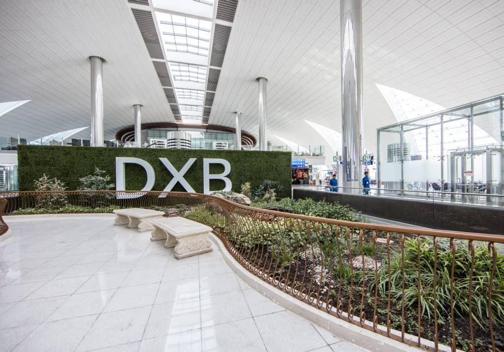 Zen Garten im Flughafen Dubai