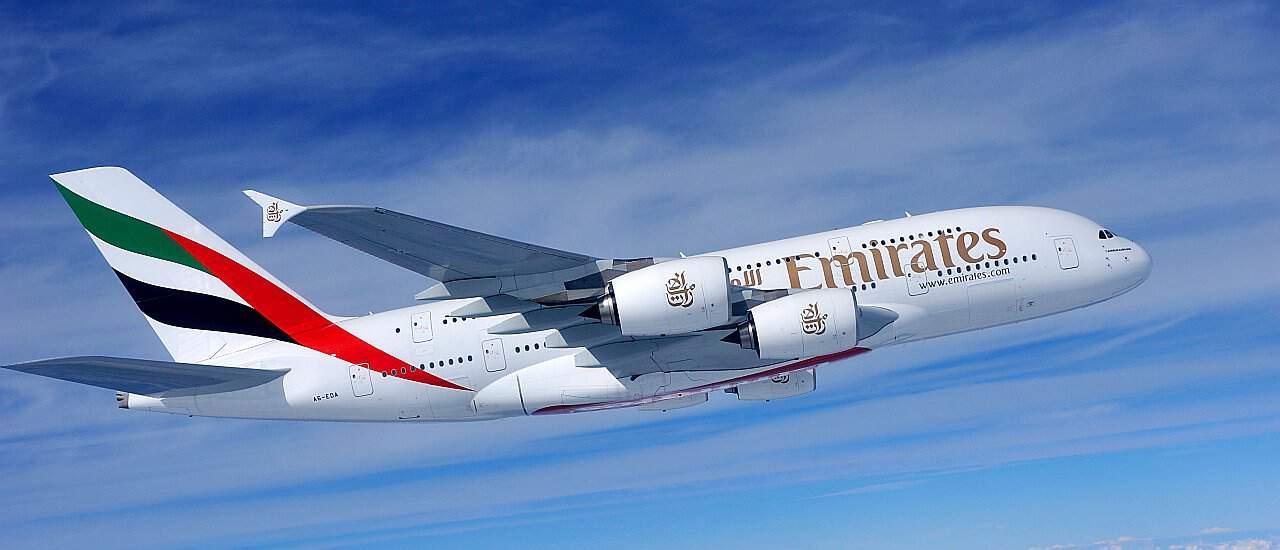 Flugzeug Emirates