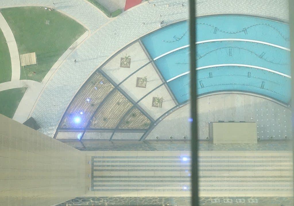 Blick nach unten Dubai Frame