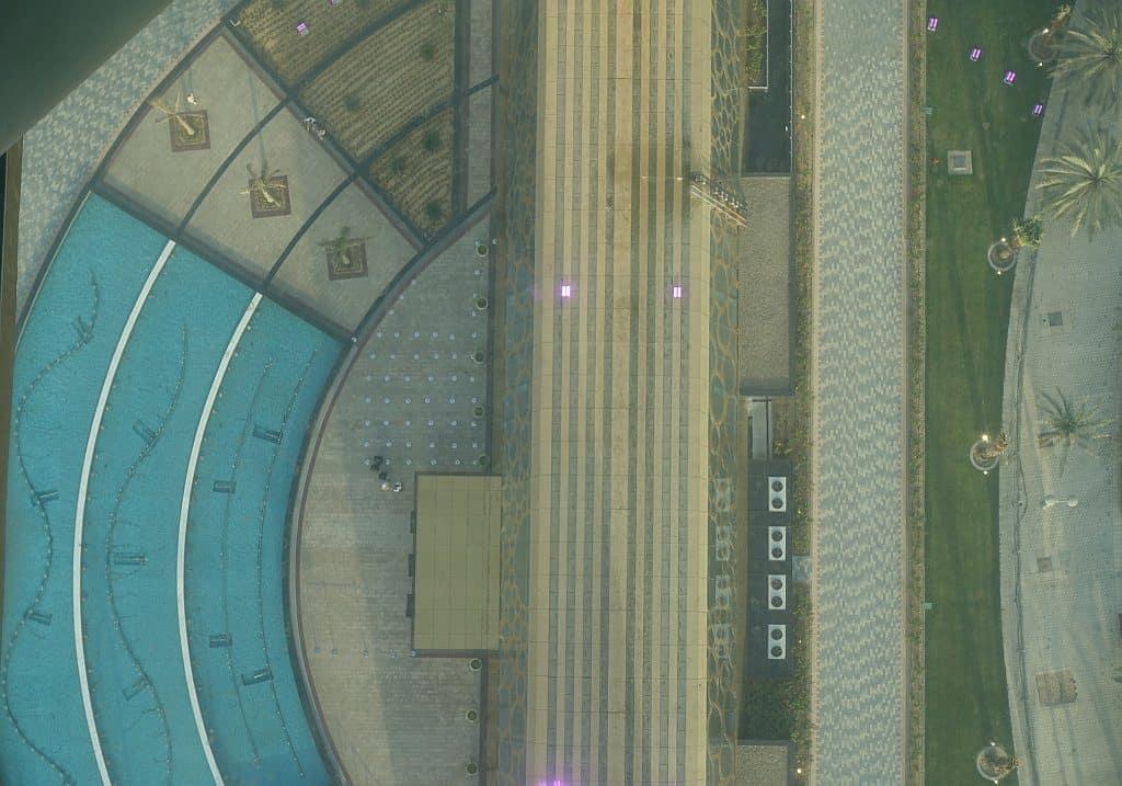 Blick von oben Dubai Frame