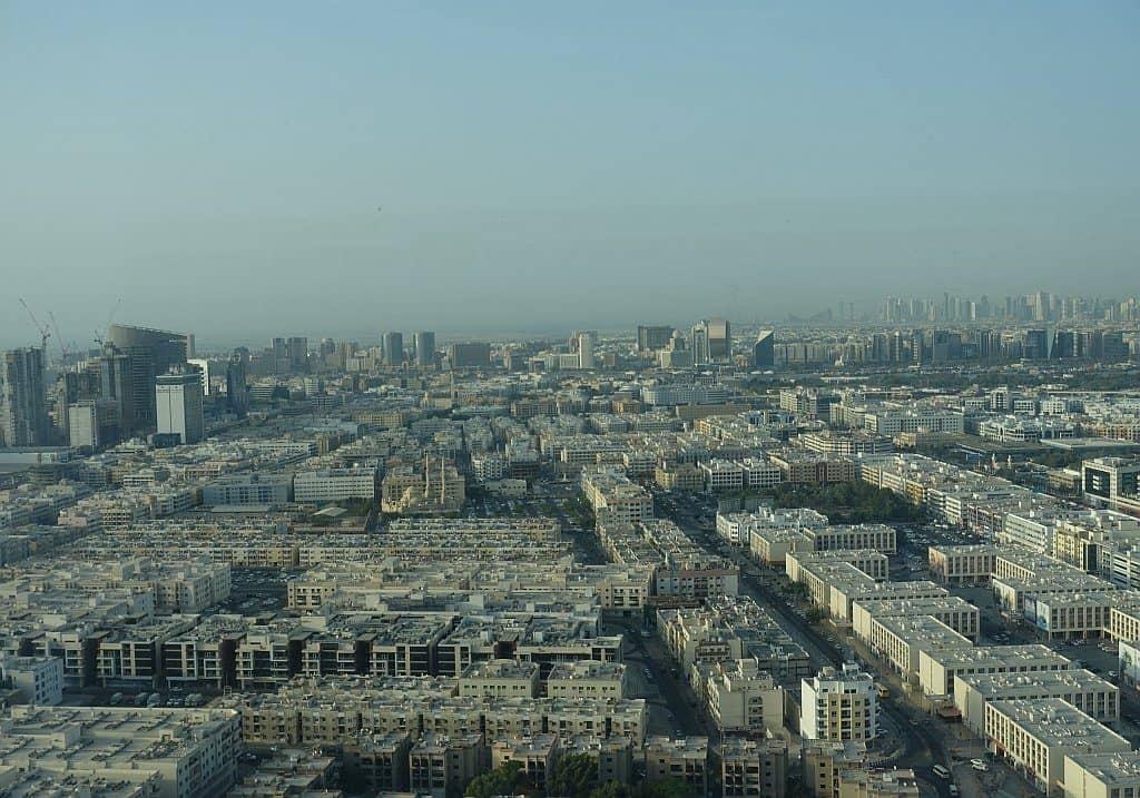 Blick zum Dubai Creek Dubai Frame