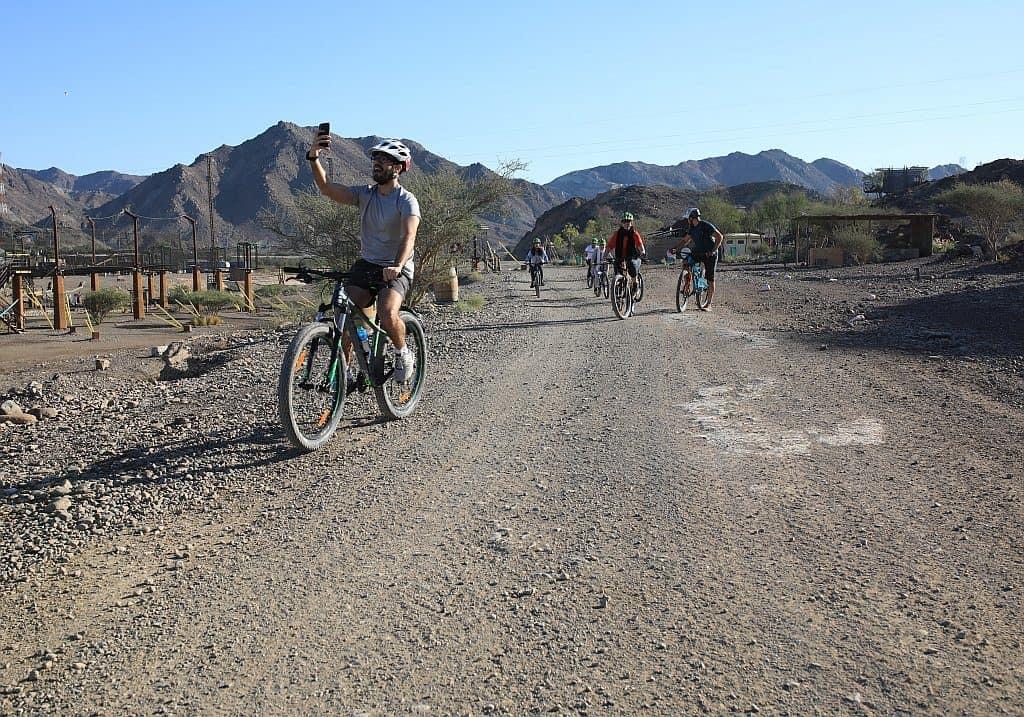 Fahrradfahren in Hatta