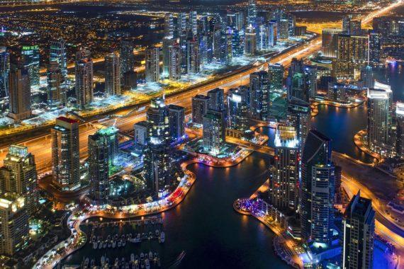 Ein Abend in der Dubai Marina