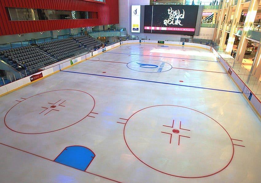 Eislaufbahn in der Dubai Mall
