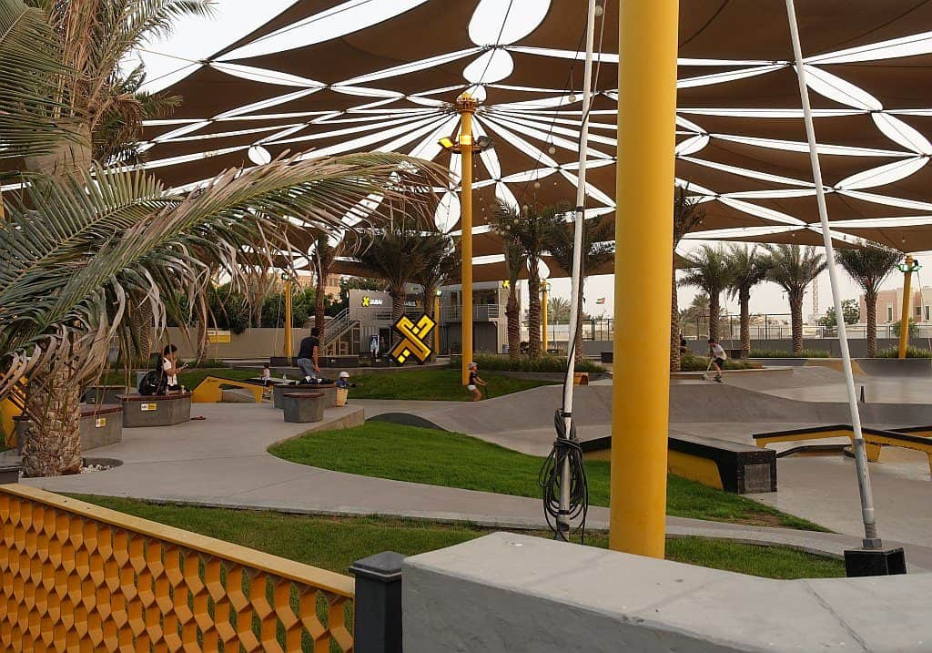 Teenager Skatepark Dubai