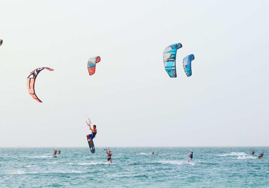 Kitesurfer Kite Beach Dubai