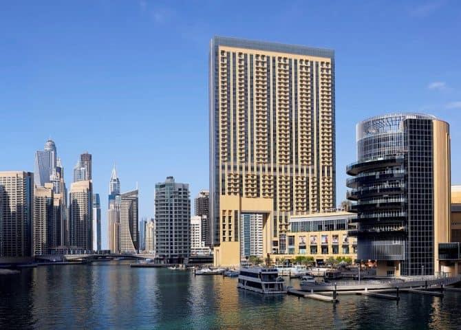 Blick auf Dubai Marina Mall