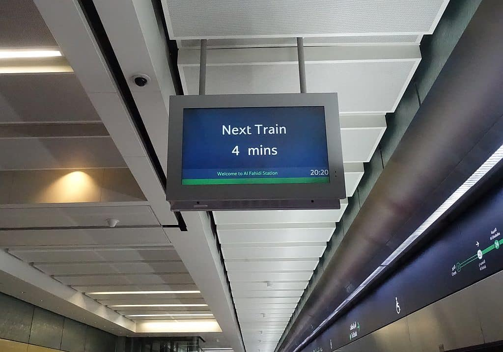 Metro Zeittafel Dubai