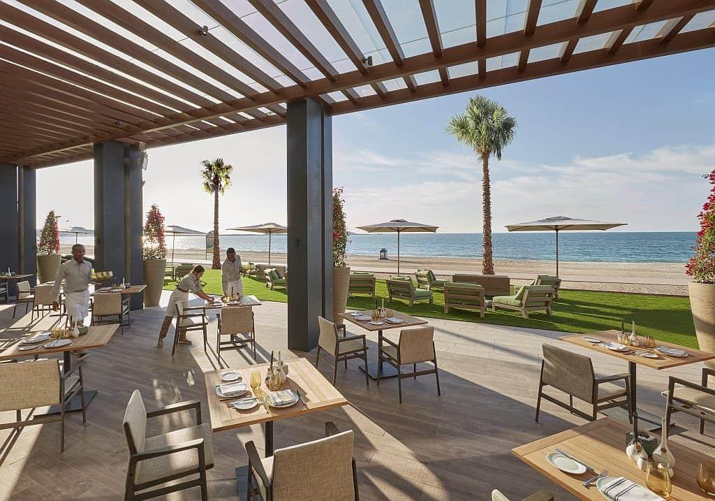 Außenterrasse Bay restaurant MODUB