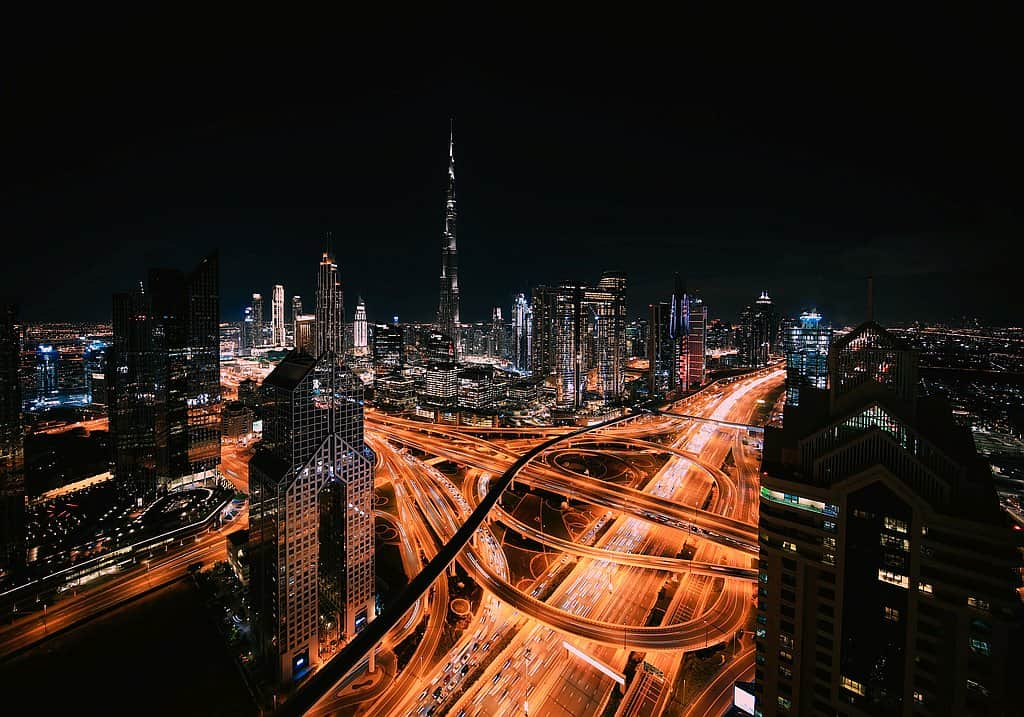 Skyline Dubai night