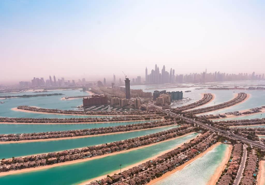Palm Jumeirah Vogelperspektive Skydive
