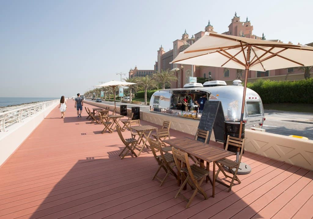 Fußgänger und Fahrradweg palm Jumeirah
