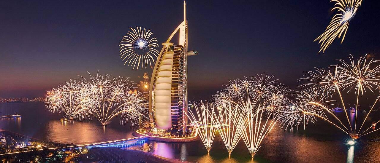 Neujahrsfeuerwerk Burj Al Arab