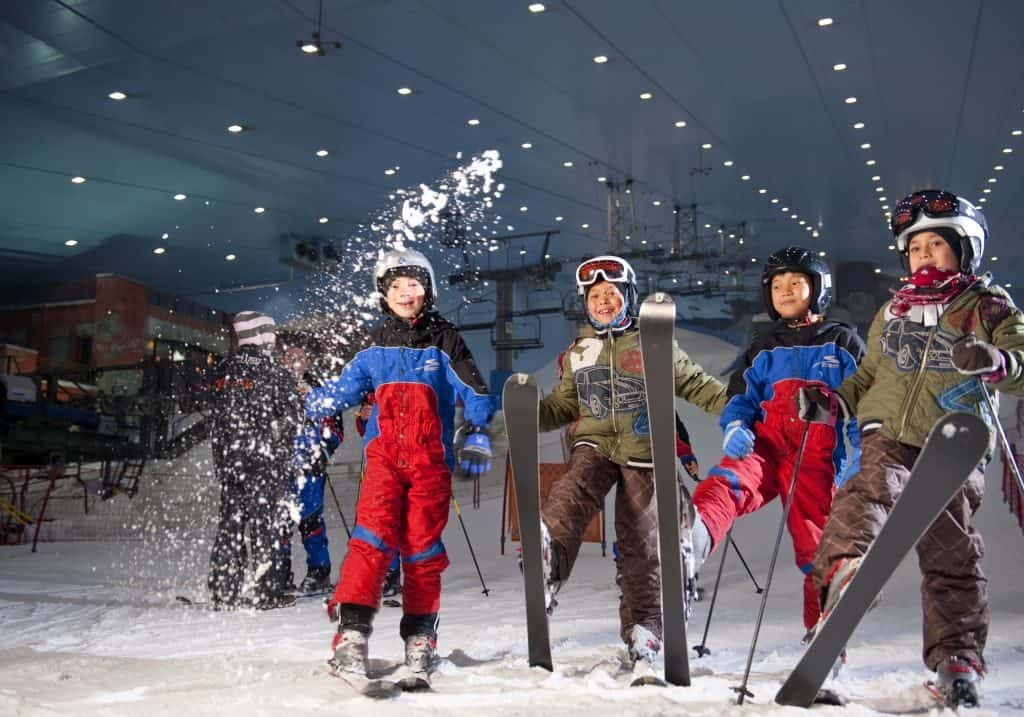 Skikurs in der SKi Dubai