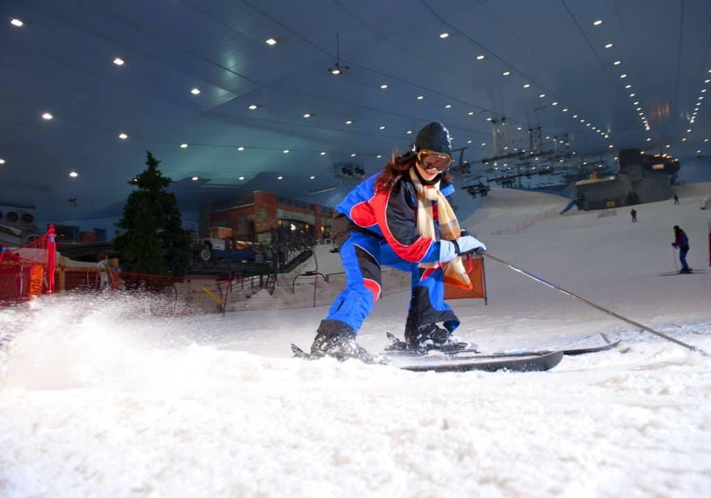 Abfahrt Ski Dubai