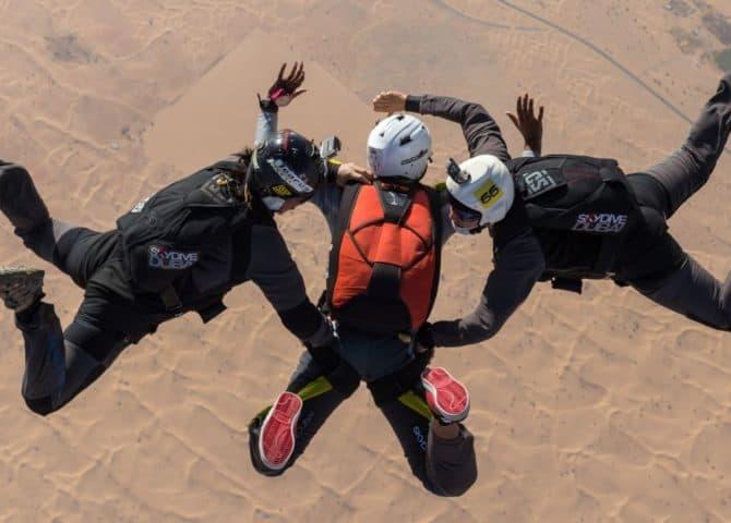 Skydive über Dubai