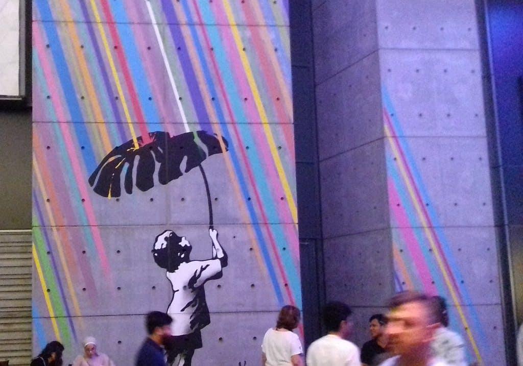 Wandgemälde im City WAlk DUbai