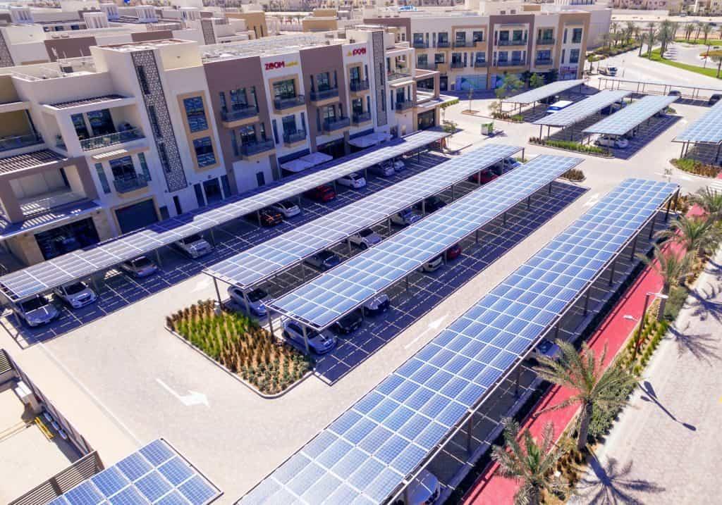 Solaranlage nachhaltige Stadt Dubai