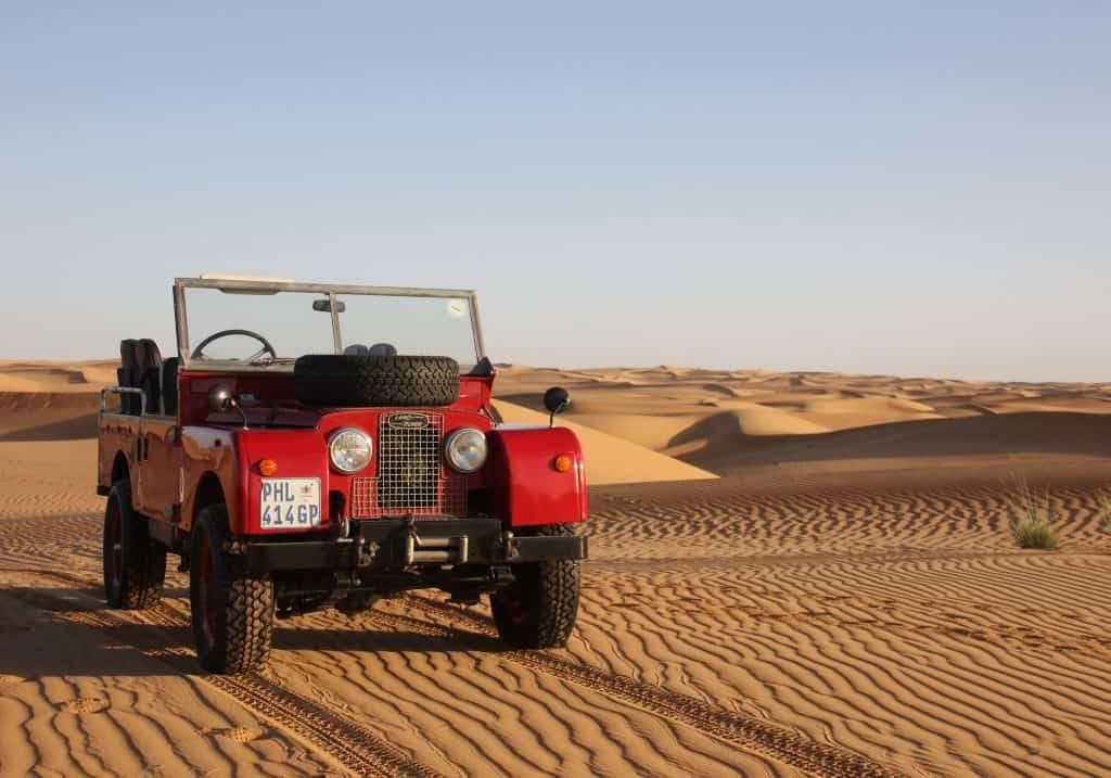 Land Rover Dubai Wüste