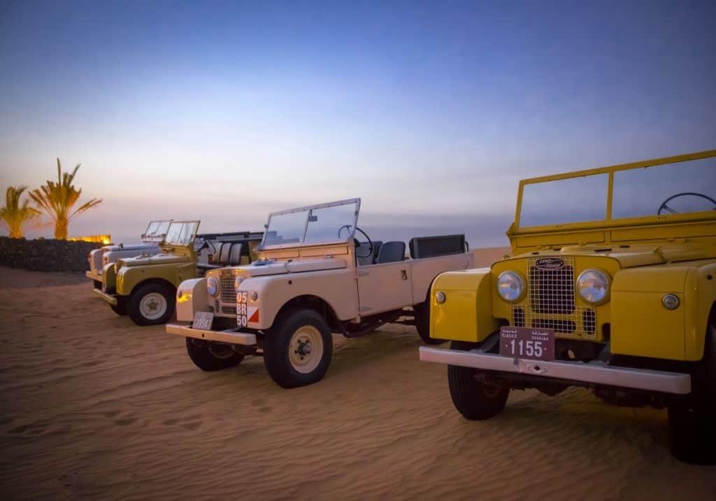 Vintage Land Rover in Dubai