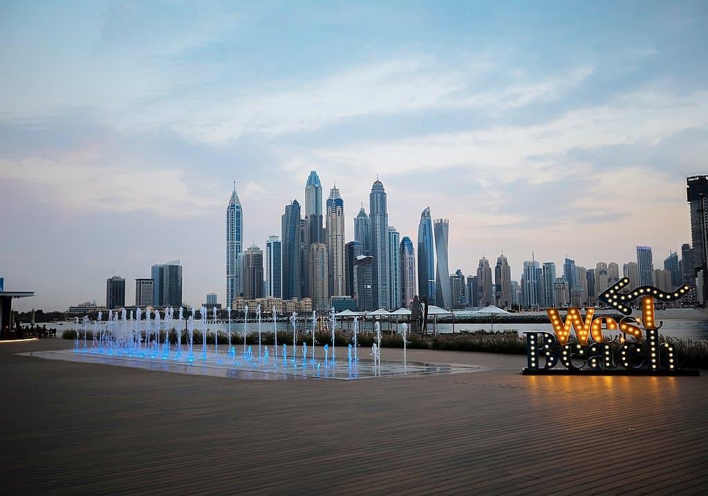 Palm West Beach Dubai Strand