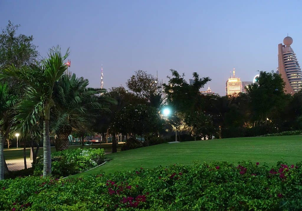Abends im Zabeel Park